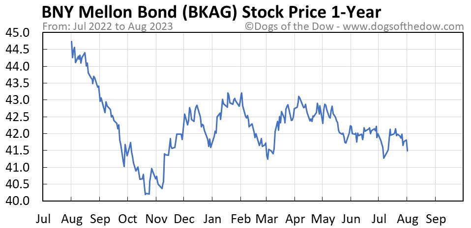 BKAG 1-year stock price chart