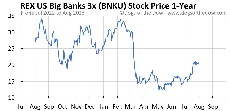 BNKU 1-year stock price chart