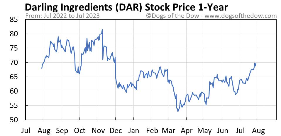 DAR 1-year stock price chart