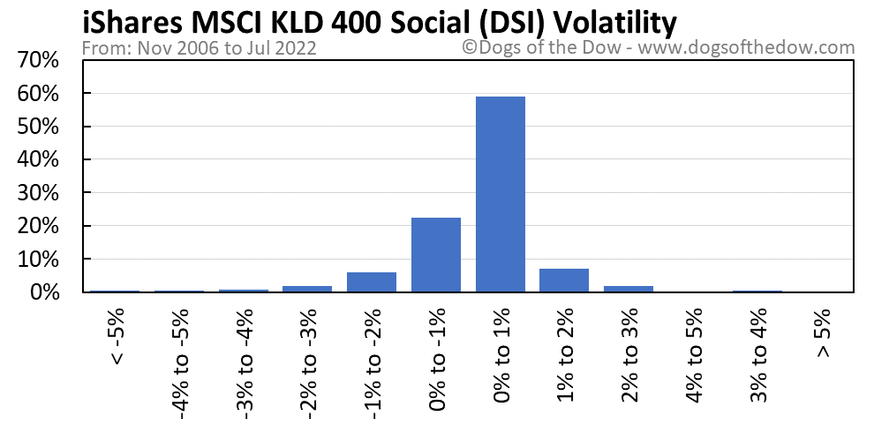 DSI volatility chart