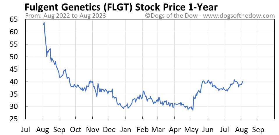 FLGT 1-year stock price chart