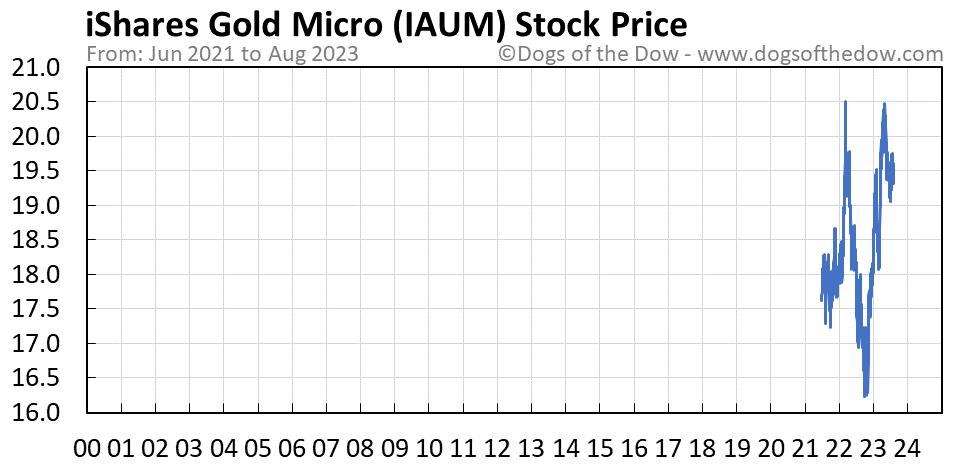 IAUM stock price chart