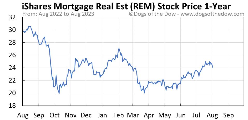 REM 1-year stock price chart