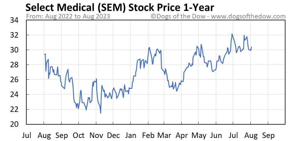 SEM 1-year stock price chart