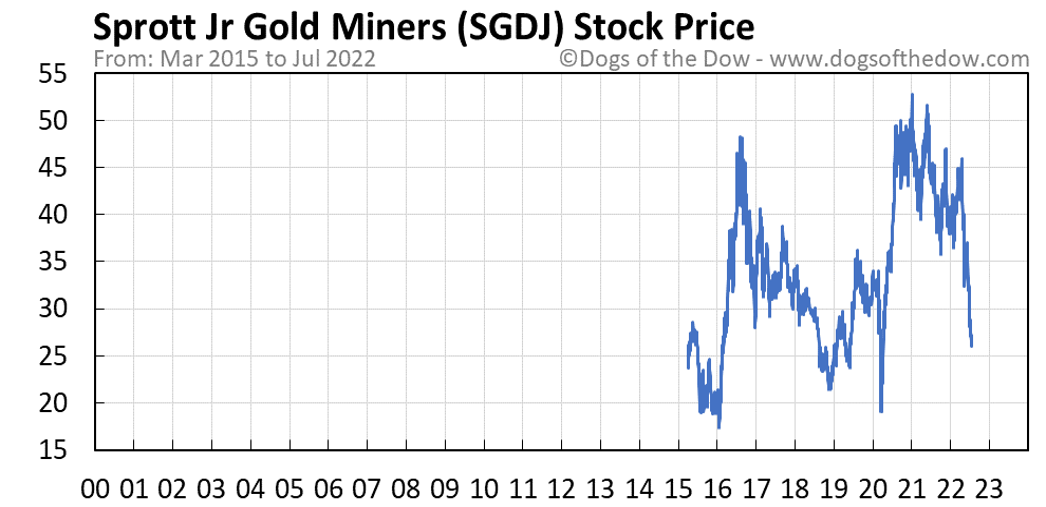 SGDJ stock price chart