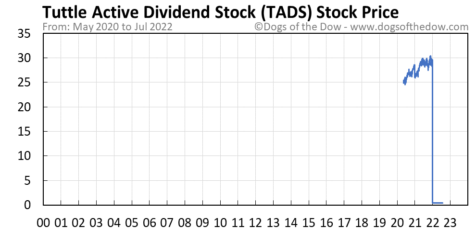 TADS stock price chart
