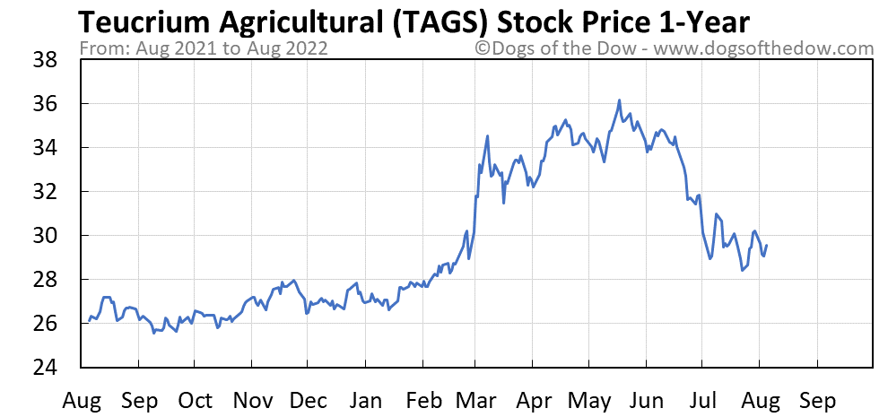 TAGS 1-year stock price chart